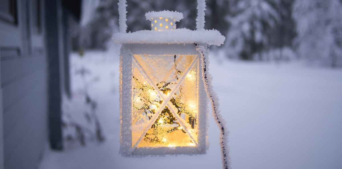 lanterna neve inverno